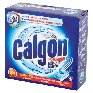 Calgon Powerball 2in1 Water Softener Tabs 195 g (15 Pieces)