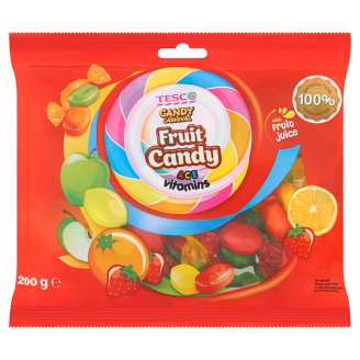 Tesco Candy Carnival Hard Candies with Fruit Flavour Filling and Vitamins 200 g