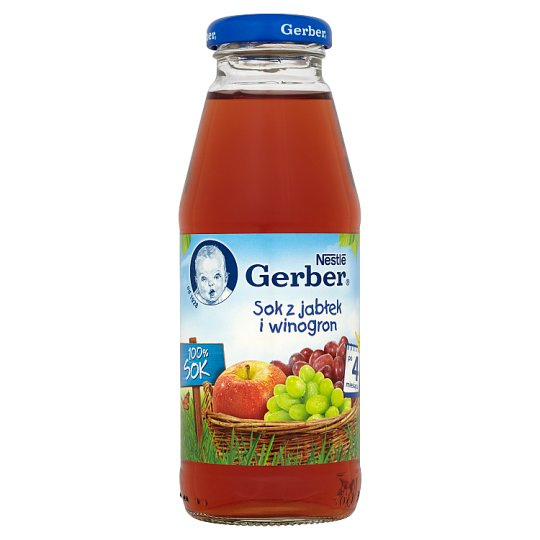 Gerber 100% Sok Apple and Grapes Juice after 4 Months Onwards 300 ml