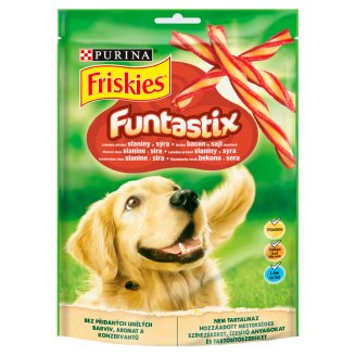 Friskies Funtastix Delicious Bacon and Cheese Flavoured Dog Food 175 g