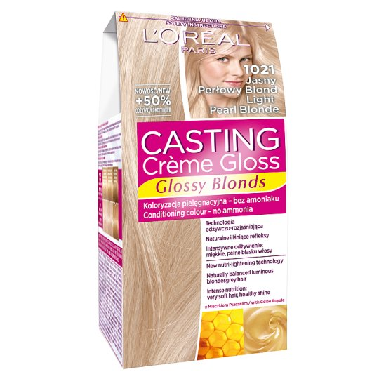 L'Oreal Paris Casting Creme Gloss Light Pearl Blonde 1021 Coloring Cream