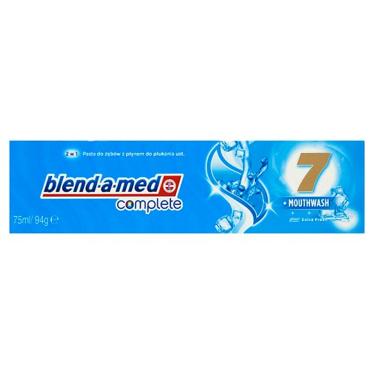 Blend-A-Med Complete 7 + Mouthwash Extra Fresh Pasta do zębów 2 x 75 ml