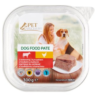 Tesco Pet Specialist Beef and Chicken Pate Food for Adult Dogs 300 g