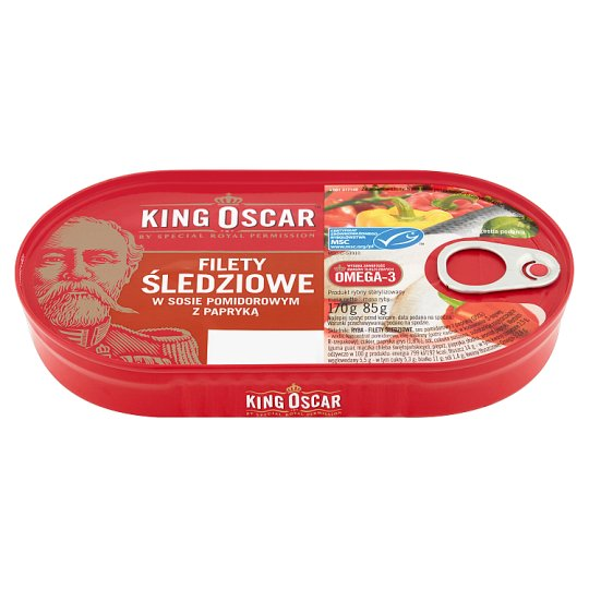 King Oscar Herring Fillets in Tomato Sauce with Paprika 170 g