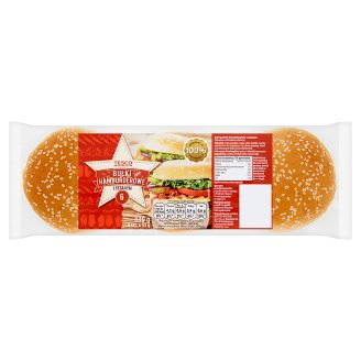 Tesco Hamburger Rolls with Sesame 330 g (6 Pieces)