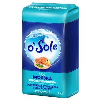 o'Sole Fine-grained Iodized Sea Salt 1 kg