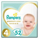 Pampers Premium Care Size 4 (Maxi) 8-14kg, 52 nappies