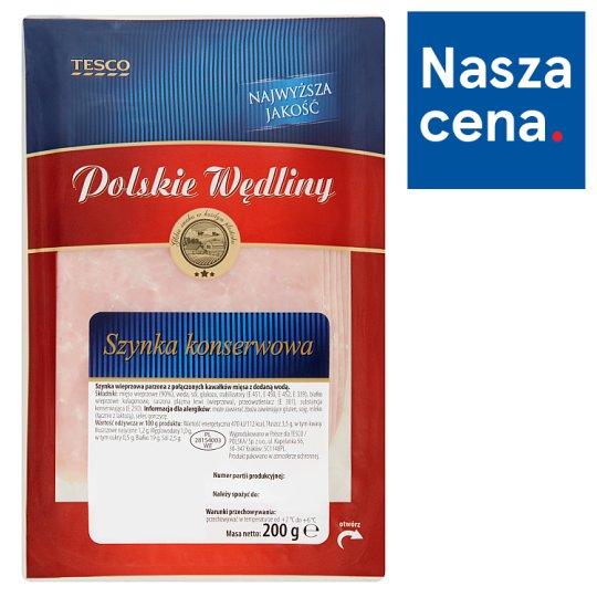 Tesco Polskie Wędliny Szynka konserwowa 200 g