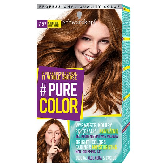 Schwarzkopf #Pure Color Hair Colorant Sweet Toffee 7.57