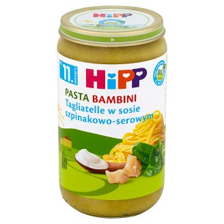 HiPP BIO Pasta Bambini Tagliatelle in Spinach-Cheese Sauce after 11. Months Onwards 250 g