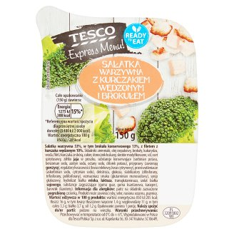 Tesco Express Menu! Vegetable Salad with Smoked Chicken and Broccoli 150 g