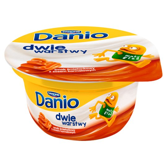 Danone Danio Two Layers Cream Flavoured with Caramel Sauce Fromage Frais 120 g