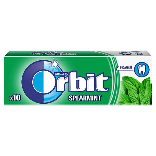 Orbit Spearmint Guma do żucia bez cukru 14 g (10 drażetek)