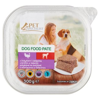 Tesco Pet Specialist Veal and Turkey Pate Food for Adult Dogs 300 g