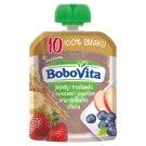 BoboVita Jagody i truskawki z owocami i jogurtem oraz delikatne zboża po 10 miesiącu 80 g