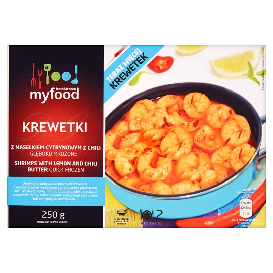 MyFood Shrimps with Lemon and Chili Butter 250 g