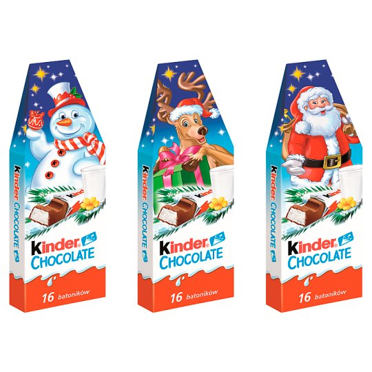 Kinder Chocolate Milk Chocolate Bars with Milk Filling 200 g (16 x 12.5 g)