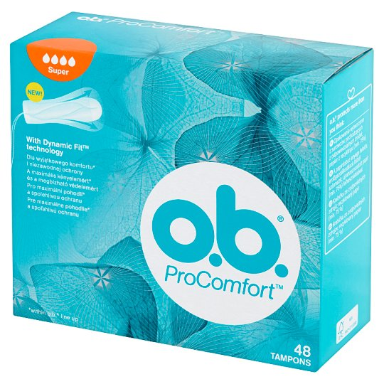 O.B. ProComfort Super Tampons 48 Pieces