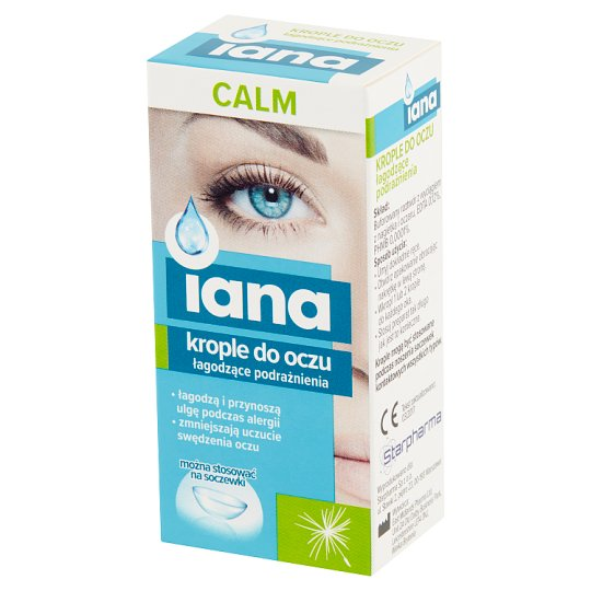 Iana Calm Intensely Moisturizing 0.1% HA Eye Drops 10 ml