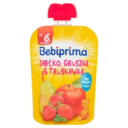 Bebiprima Apple Pear & Strawberry Fruit Mousse after 6. Months Onwards 90 g