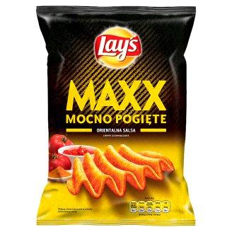 Lay's Maxx Mocno Pogięte Oriental Salsa Flavoured Potato Crisps 140 g