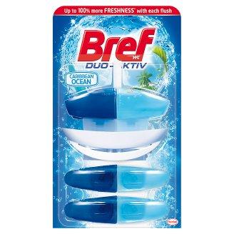 Bref WC Duo-Aktiv Caribbean Ocean Toilet Rim Block 3 x 50 ml