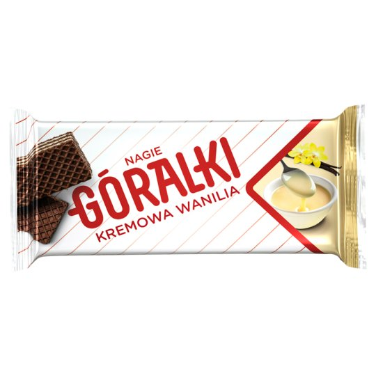 Góralki Vanilla Flavour Dark Wafer with Milk Cream Filling 42 g