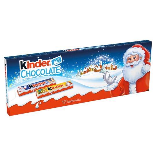 Kinder Chocolate Milk Chocolate Bars with Milk Filing 150 g (12 Bars)