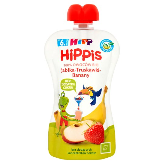 HiPP BIO HiPPiS Apples-Strawberries-Bananas Fruit Mousse after 6. Month Onwards 100 g