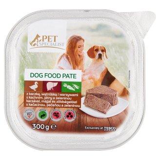 Tesco Pet Specialist Karma dla dorosłych psów pasztet z kaczką wątróbka i warzywami 300 g