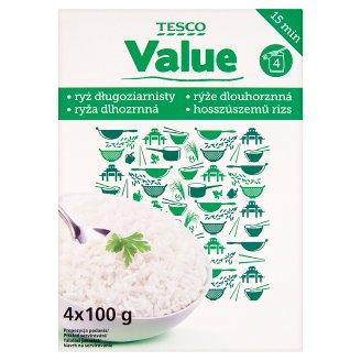 Tesco Value Long Grain Rice 400 g (4 Bags)