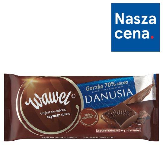 Wawel Czekolada gorzka 70% Cocoa z nadzieniem czekoladki Danusia 100 g