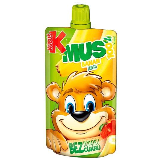 Kubuś Mus 100% banan jabłko 100 g