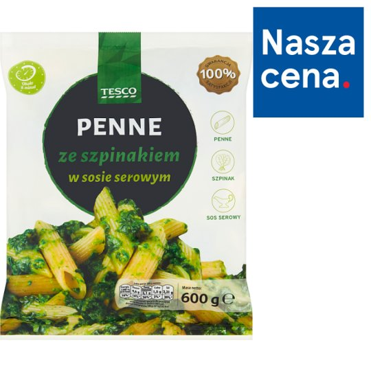 Tesco Pasta with Spinach in Cheese Sauce 600 g