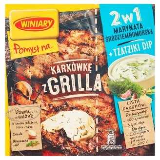 Winiary Pomysł na... Grill Pork Marinade 2in1 Mediterranean and Tzatziki Dip 34 g