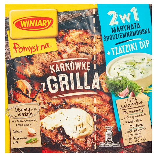 Winiary Pomysł na... Grill Pork Marinade 2in1 Mediterranean and Tzatziki Dip 34 g