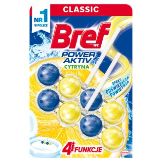 Bref WC Power Aktiv Juicy Lemon Toilet Rim Block 2 x 50 g