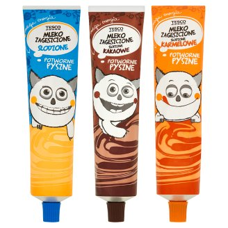 Tesco Mleko zagęszczone słodzone różne smaki 150 g