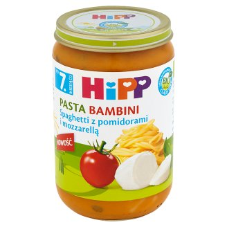 HiPP BIO Pasta Bambini Spaghetti with Tomatoes and Mozzarella after 7. Months Onwards 220 g