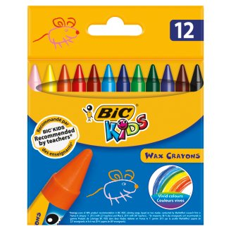 BiC Kids Wax Crayons 12 Colours
