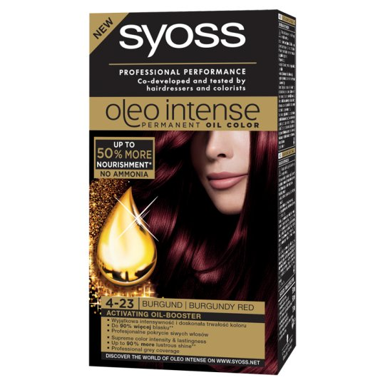 Syoss Oleo Intense Hair Colorant Burgundy Red 4-23