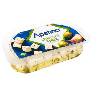 Apetina Mediterannean Style White Cheese with Olives and Garlic in Oil 100 g