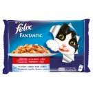Felix Fantastic Selection of Meats in Jelly Complete Food for Adult Cats 4 x 100 g