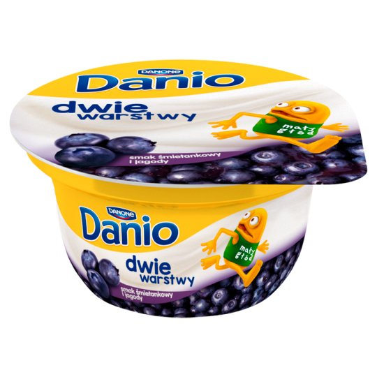 Danone Danio Two Layers Cream Flavoured and Berries Fromage Frais 120 g