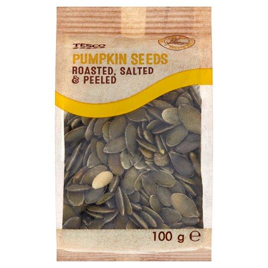 Tesco Roasted Salted & Peeled Pumpkin Seeds 100 g