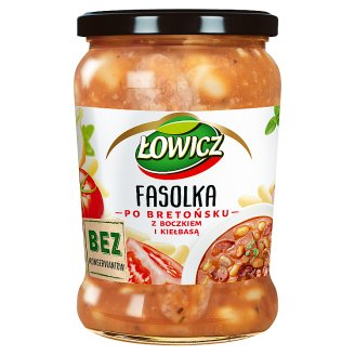 Łowicz Beans Stewed with Bacon and Sausage in Tomato Sauce 580 g