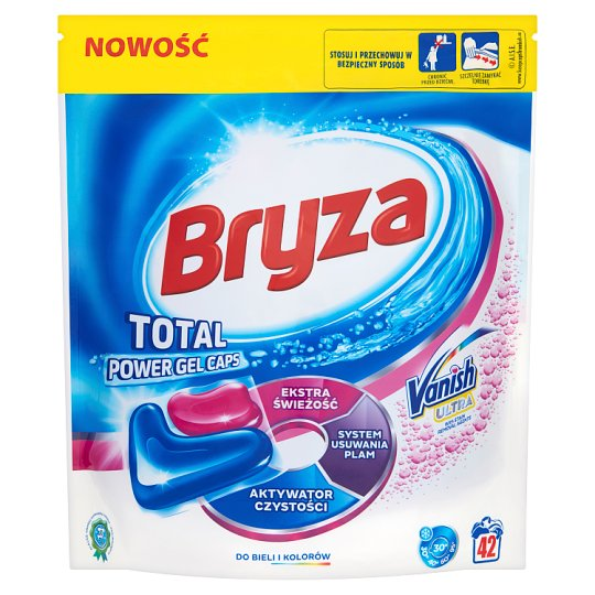 Bryza Vanish Ultra Total Power Gel Caps White and Colour Washing Capsules 911 g (42 Pieces)