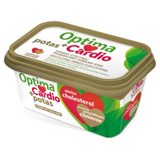Optima Cardio Potas+ Margaryna roślinna z dodatkiem steroli roślinnych 400 g