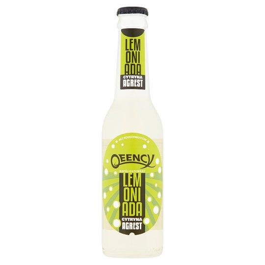 Qeency Napój gazowany lemoniada cytryna agrest 275 ml