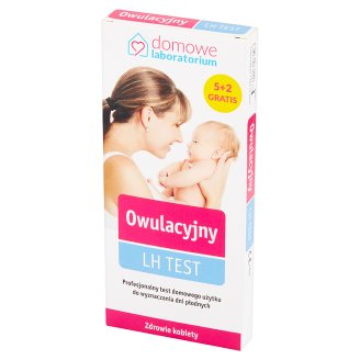 Domowe Laboratorium Professional Ovulation Test LH Test 7 Pieces